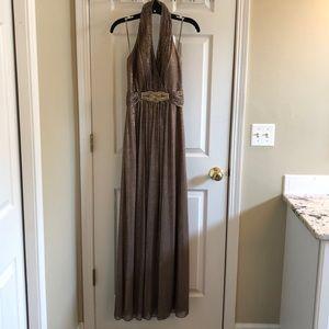 Floor Length Gold Gown